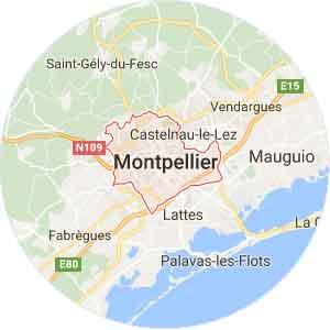 carte Montpellier (34 Hérault)