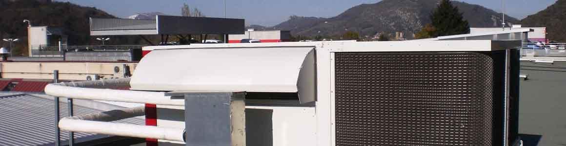 installation climatisation vrv rooftop bezier
